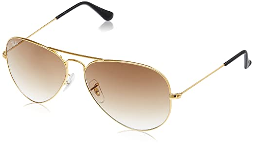 golden aviators  Ray-Ban Aviator Sunglasses (Gold) (RB3025
