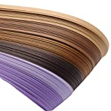 ARRICRAFT 10 Bags Purple 6 Colors Quilling Paper Strips Gradual Color for DIY Crafts Home Decoration, 390x3mm, About 120strips/bag, 20strips/Color (Color: purple)