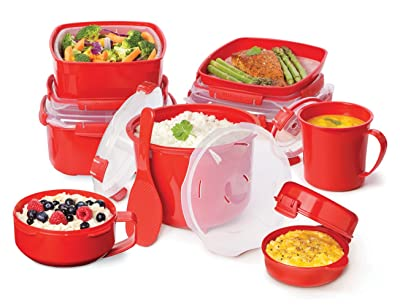 Sistema Microwave Cookware Rice Steamer Via Amazon