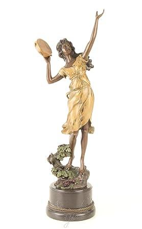 Bronzo figura di scultura del ballerino