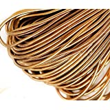 10g Aztec Gold Round Smooth Copper Hand Embroidery French Fine Metallic Wire Goldwork Bullion Luneville Tambour Indian Gimp Dabka Purl (Color: Aztec Gold, Tamaño: 1mm)