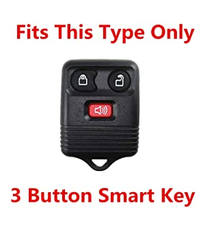 Rpkey Silicone Keyless Entry Remote Control Key Fob Cover Case protector For Ford Lincoln Mercury Mazda CWTWB1U331 GQ43VT11T CWTWB1U345 8L3Z15K601B 8L-3Z-15K-601B white