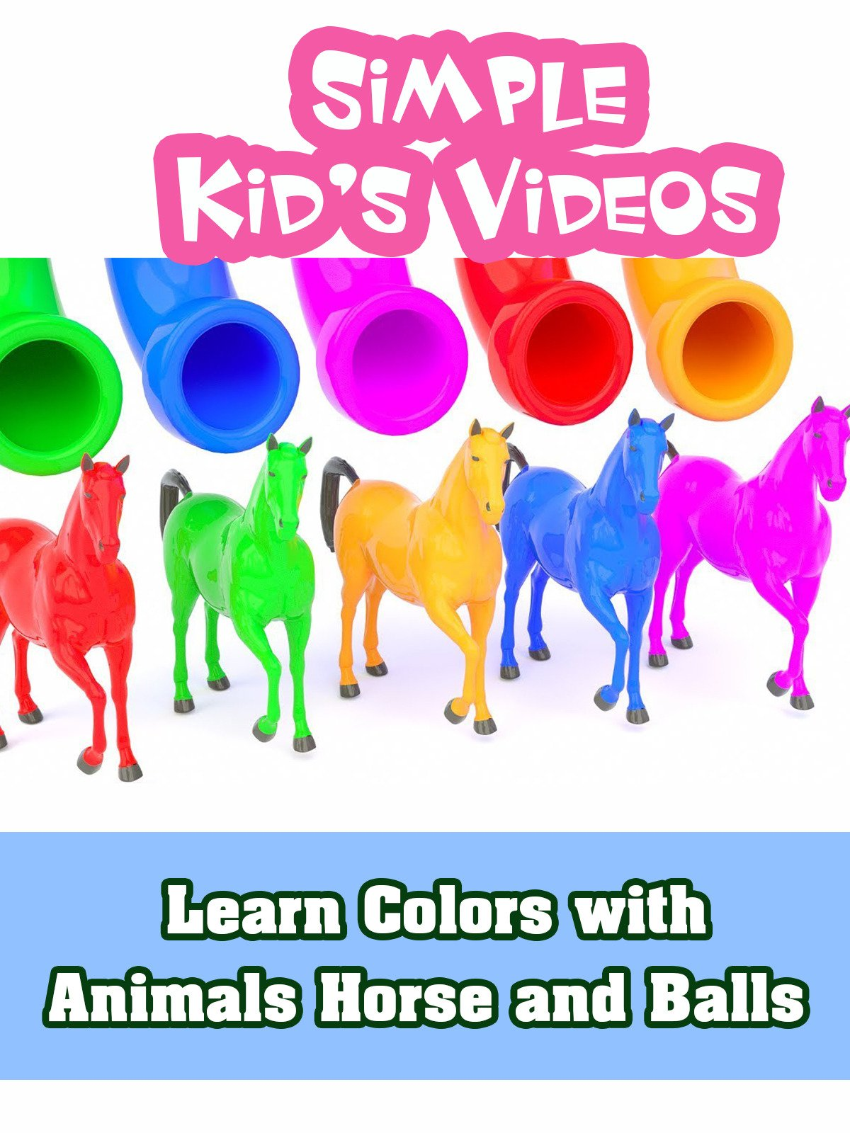 Learn Colors with Animals Horse and Balls