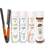 Complex Brazilian Keratin Blowout Hair Treatment 4 Bottles 300ml Value Kit Includes Sulfate Free and Easy Comb Queratina Keratina Brasilera Tratamiento (Tamaño: 300ml)