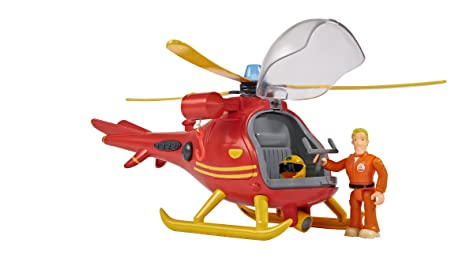 Simba 109251661Hélicoptère avec figurinede Sam le pompier