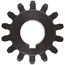 Martin Spur Gear, 14.5° Pressure Angle, High Carbon Steel, Inch, 6 Pitch
