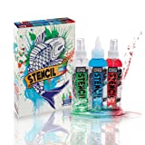 Stencil Stay Professional Tattoo Stencil Solution Box Set with Stencil Off 4oz Bottles