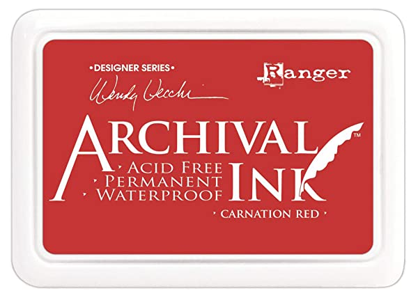 Wendy Vecchi Archival Ink Pad, Carnation Red (Color: Carnation Red)