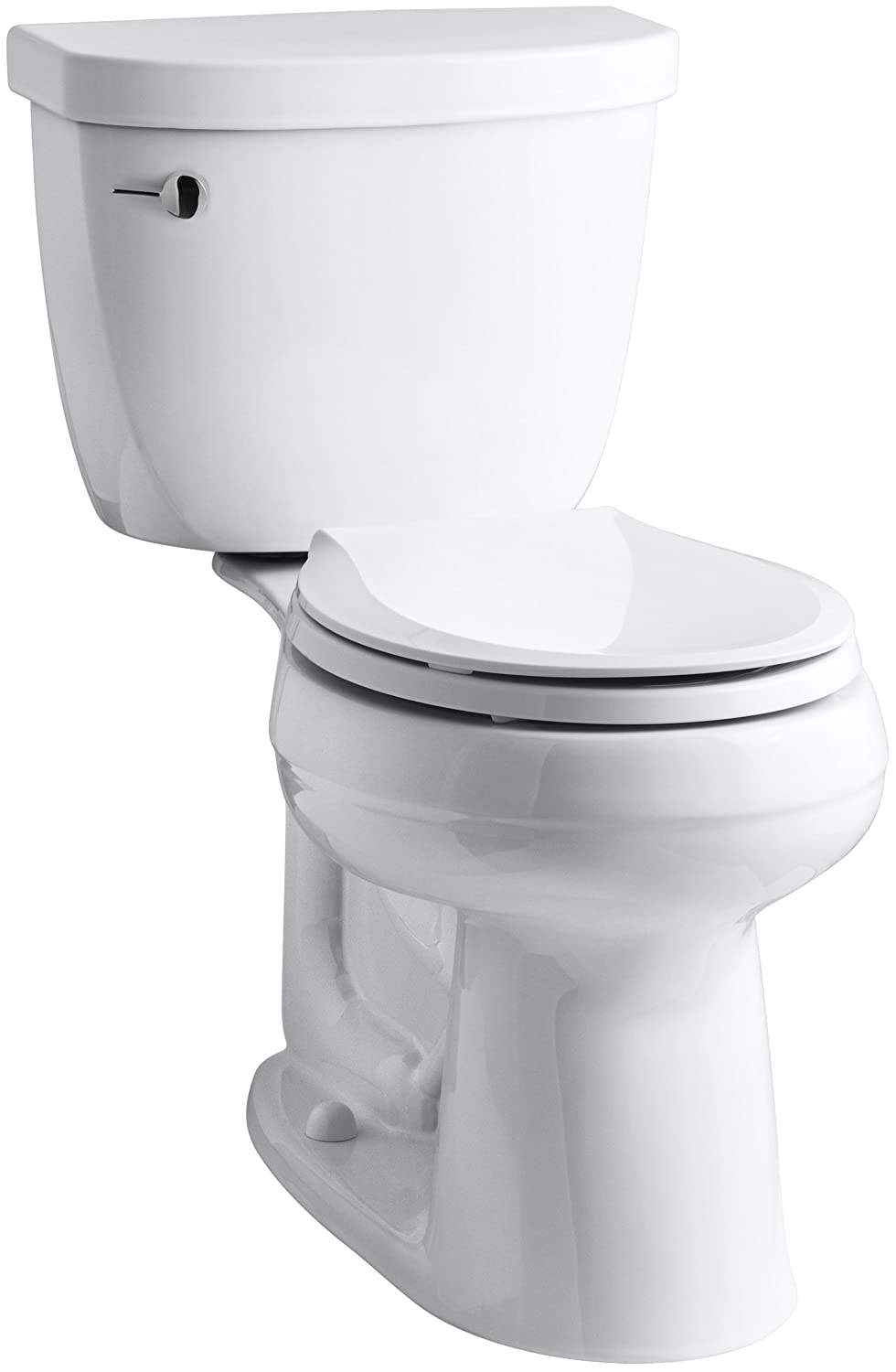 KOHLER K-3851-0 Cimarron Comfort Height Two-Piece Round-Front 1.28 GPF Toilet with Aqua Piston Flush Technology