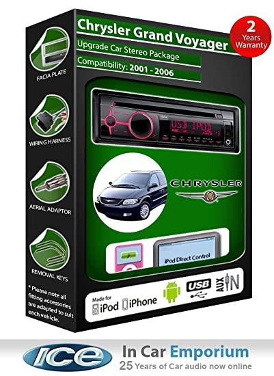 Grand Chrysler Voyager Lecteur CD et stéréo de voiture radio Clarion jeu USB pour iPod/iPhone/Android