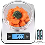 Digital Kitchen Food Scale, Small Cooking Scale with Stainless Steel Panel, Fast Unit Switching Kitchen Weighing Scale, Holds Up to 11 Ibs/5 Kg (Silve