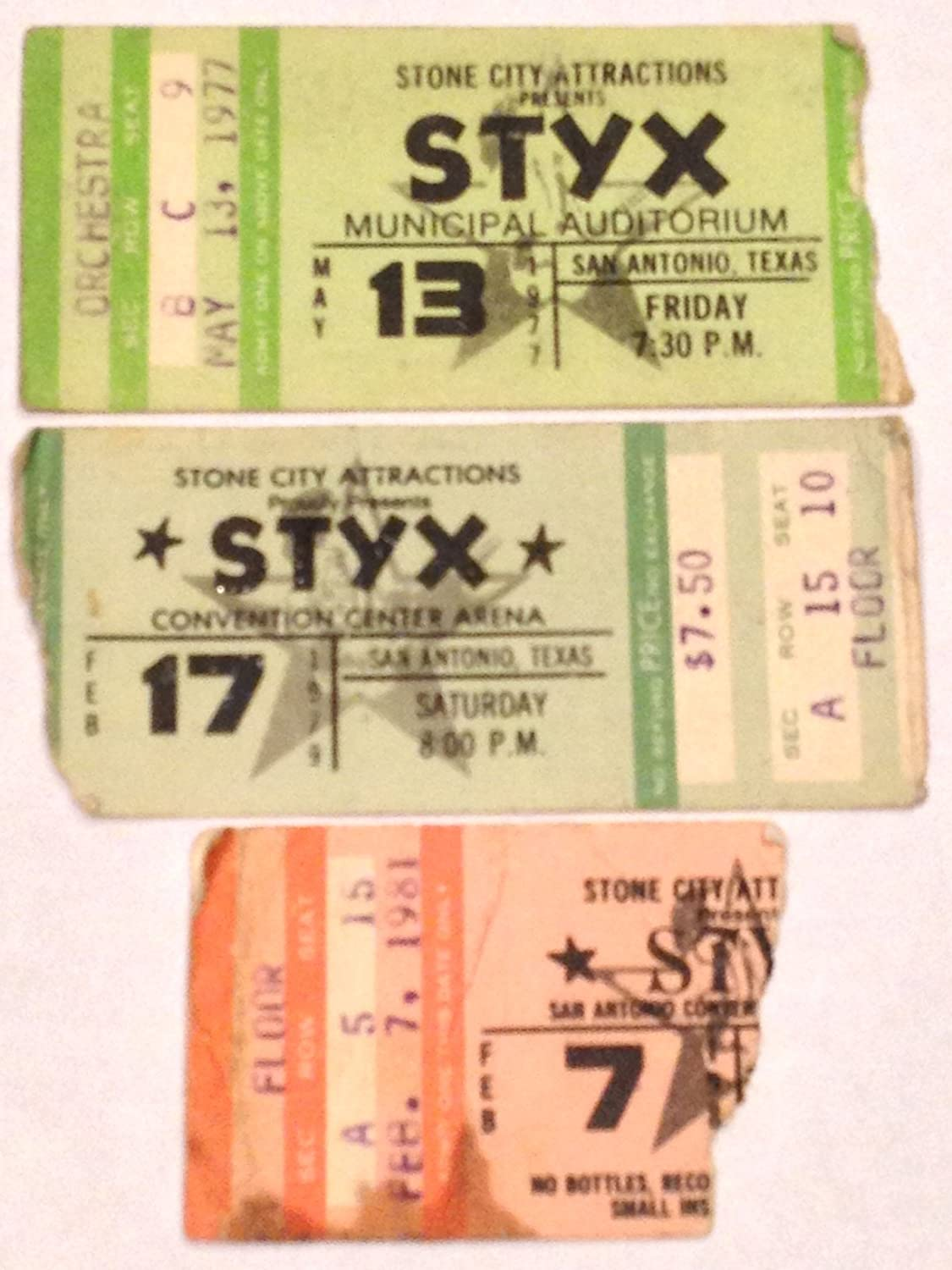 Styx San Antonio, TX 1977 1979 1981 Ticket Stubs Lot of 3 styx shards of darkness ps4 page 3