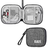 BUBM Mini Earphones Carring Case Bag For Earphones/Earbuds/U disk/USB Drive/SD Memory Card And Other Small Accessaries Bag(Square Grey) (Color: Grey, Tamaño: Square)