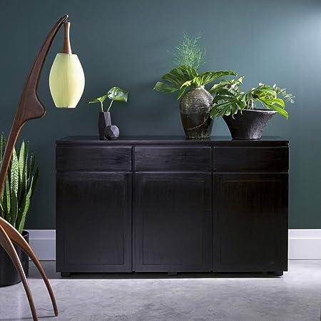 consola cómoda aparador madera maciza mahagoni caoba 150 cm diseño eva