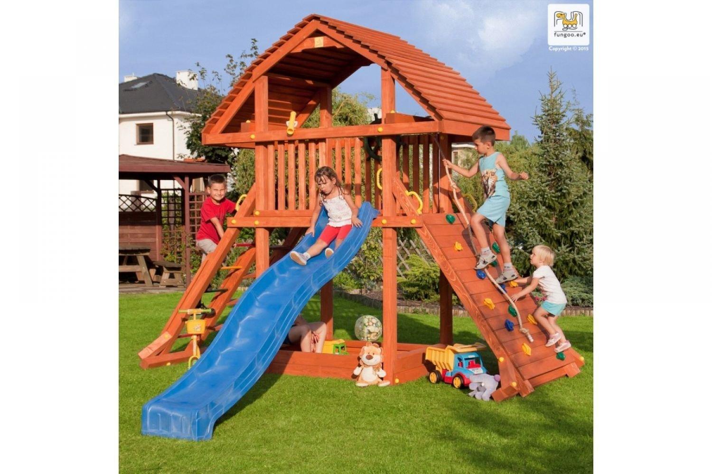 Fungoo ® Giant Spielturm mit Rutsche Farbe blaue Rutsche kaufen