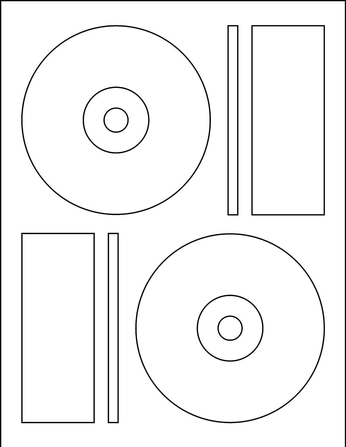 memorex cd label template