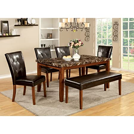 Furniture of America Wilmont 6 Piece Dining Table Set