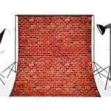 DODOING 10x10FT Red Brick Wall Photography Backdrop Retro Brick Photo Background for Studio Prop 3x3 Meters (Color: Style 1, Tamaño: 10x10FT(3x3M))