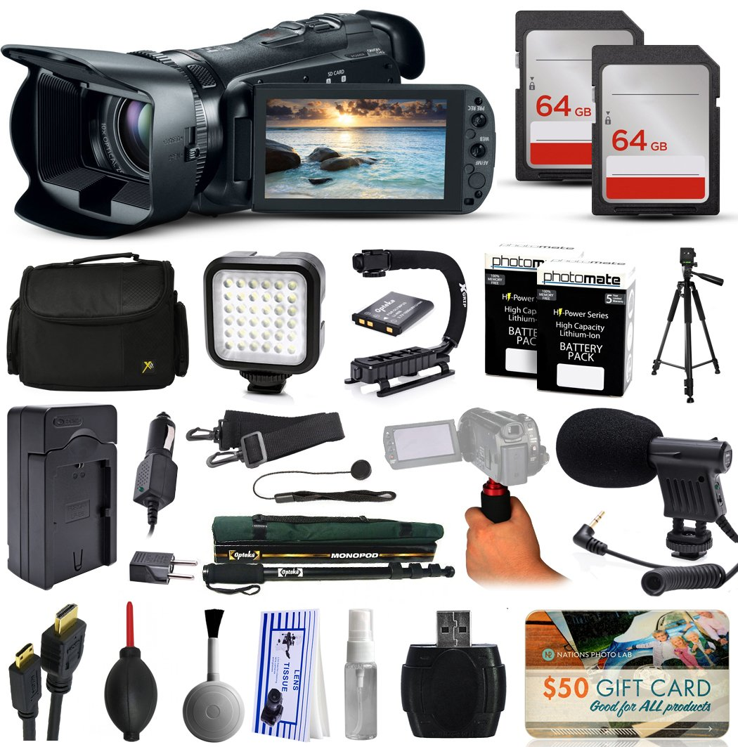 Canon VIXIA HF G20 HFG20 HD Camcorder Video Camera + 128GB Boardcasting Filmmaker