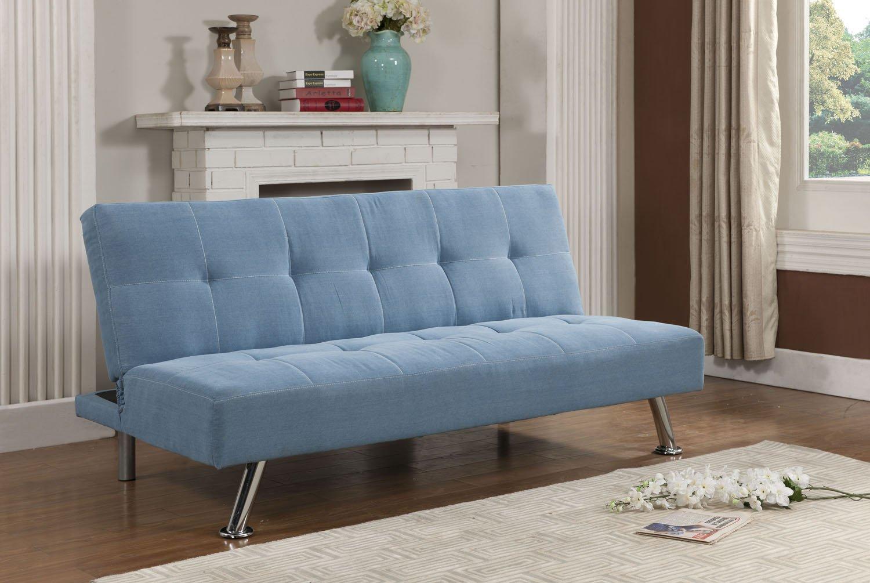 Kings Brand Blue Jean Fabric Adjustable Back Klik Klak