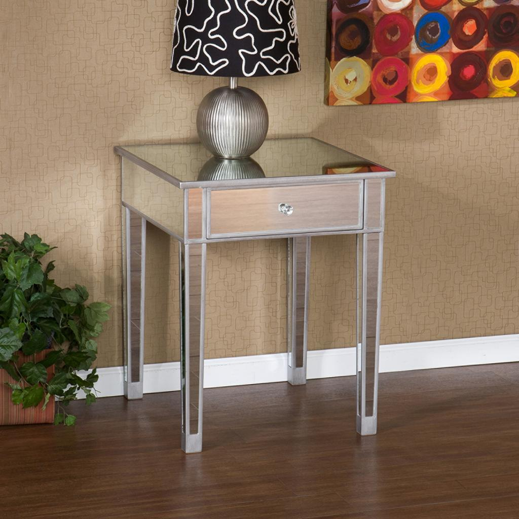 Accent Tables For Bedroom: SEI Mirage Mirrored Accent Table