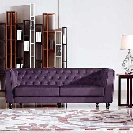 Bellini Button Tufted Fabric Sofa