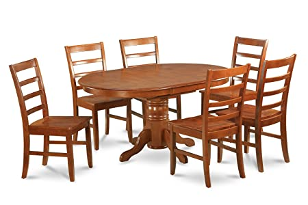 East West Furniture AVPF5-SBR-W 5-Piece Dining Table Set