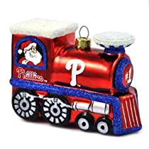 MLB Blown Glass Train Ornament