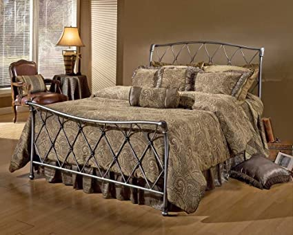 King Silverton Bed by Hillsdale - Brushed Silver (1298-660R)