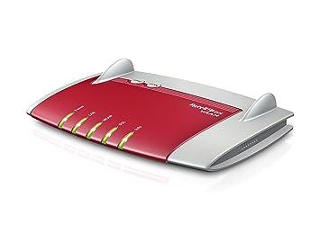 AVM FRITZ!Box WLAN 3370 - Router (10, 100, 1000 Mbit/s, Ethernet (RJ-45), VDSL, 100 Mbit/s, IEEE 802.11a, IEEE 802.11b, IEEE 802.11g, IEEE 802.11n, WDS, WPA, WPA2) Rojo, Plata