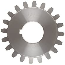 Boston Gear Spur Gear, 14.5 Pressure Angle, Steel, Inch, 6 Pitch