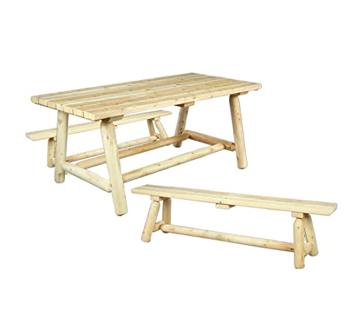 Cedarlooks 020021B Farmers Dining Table and Bench Set