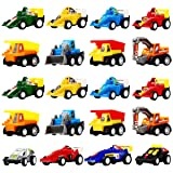 Toys for 2-6 Year Old Boy, DIMY Pull Back Cars 20 Pcs Gift Pack for Toddlers Gifts for 2-5 Year Old Kids Educational Toy PULL01