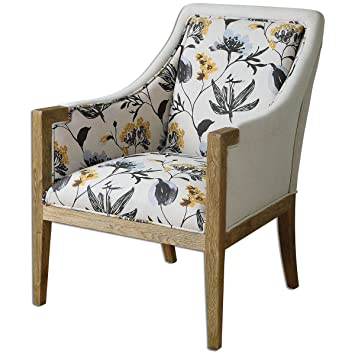 Uttermost 23134 Floral Curran Armchair