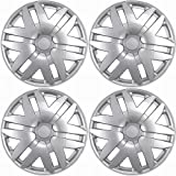 OxGord Hub-caps for 04-10 Toyota Sienna (Pack of 4) Wheel Covers 16 inch Snap On Silver