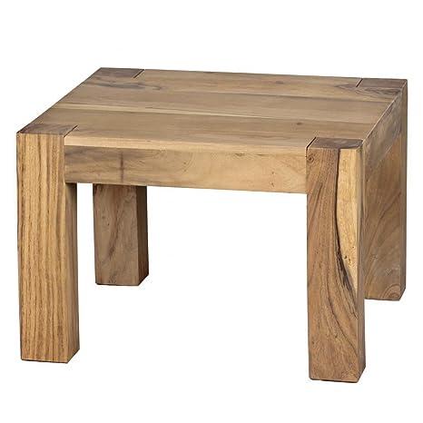 Pali Couchtisch 70x70 cm Wohnzimmertisch Tisch / Holztisch aus Akazie / Beistelltisch