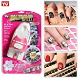 Hollywood Nails Art and Painting - Hollywood Nails All in One Nail Art System,Nail Printing Machine Nail Art Printer Creative New Beauty Tools Kit for Women Gift