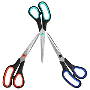 Artlicious - 3 Pack Premium 8 inch Multipurpose Scissors Value Pack for School, Home, Office