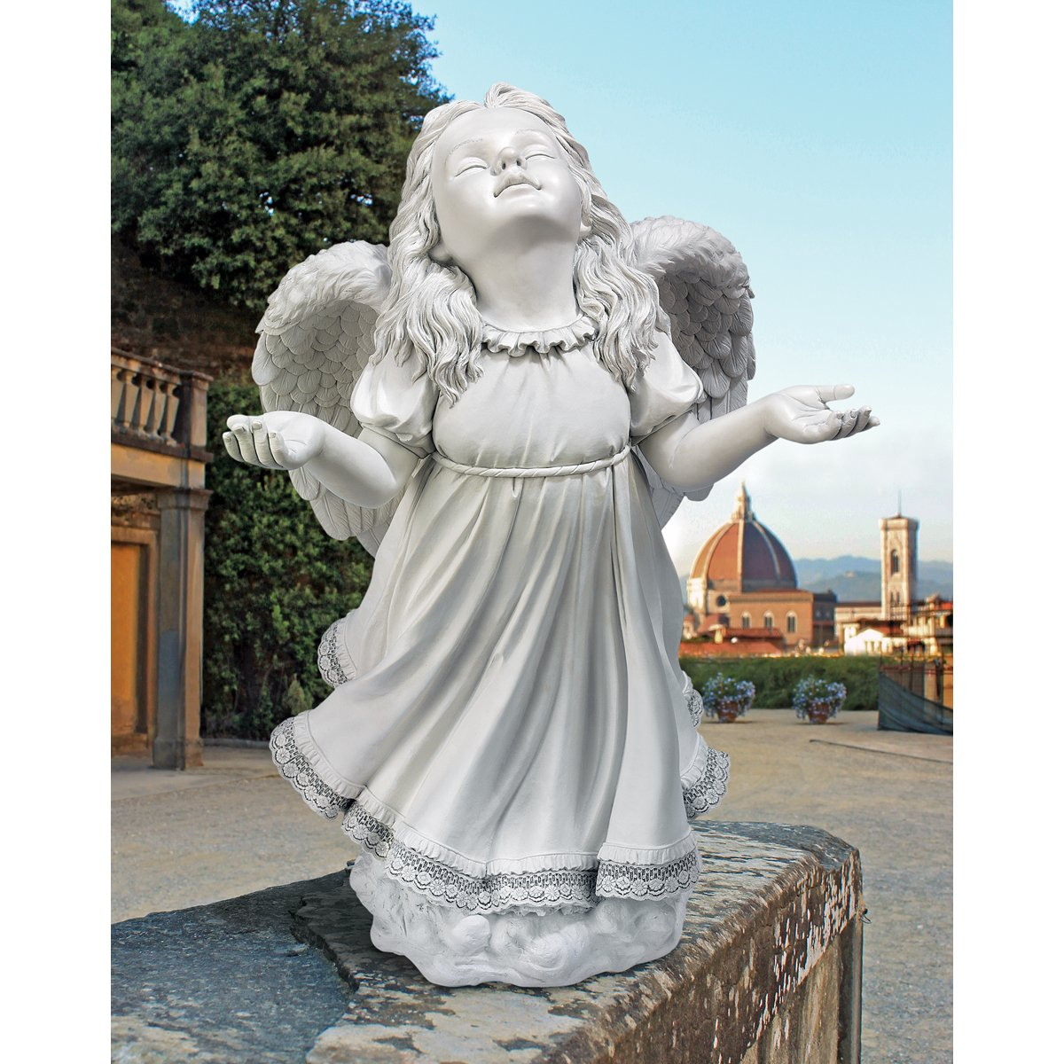Small Angel Statues For Graves: Beautiful Angel Statues For Garden : Angel Sculpture