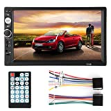 Fosa Audio 7010B Double Din, Touchscreen Car Audio Stereo Receiver MP5 Player Bluetooth Digital LCD Monitor 7