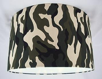 abat jour fait main main 41cm vert noir tissu camouflage cuisine camouflage cuisine. Black Bedroom Furniture Sets. Home Design Ideas