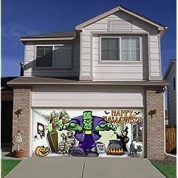 ... Frank And Friends Halloween Garage Door Décor 7x16