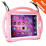 TopEsct iPad 2 Case for Kids, Shockproof Silicone Handle Stand Case Cover&(Tempered Glass Screen Protector) for Apple iPad 2nd Generation,iPad 3rd Generation,iPad 4nd Generation (Pink) (Color: Pink)