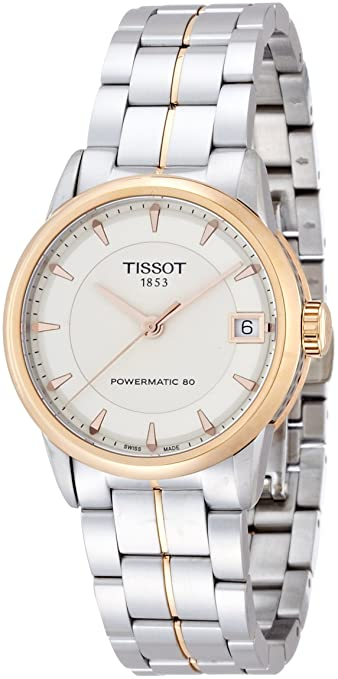 Tissot Lady Luxury Automatic Ivory Dial Two-Tone Stainless Steel Ladies Watch T0862072226101