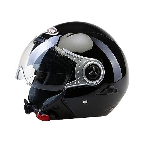 Casque de moto noire Viper RSV18 Face ouverte