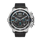 Diesel Men's DZ4408 Deadeye Stainless Steel Black Leather Watch (Color: Black)