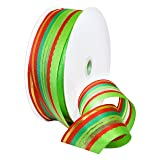 Morex Ribbon Wired Polyester Deco Holiday Ribbon, 1-1/2