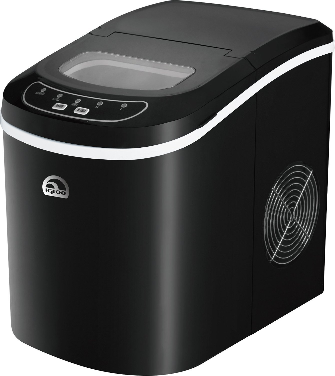 Igloo Countertop Compact 26 lb. Portable Freestanding Ice Maker, Black (Certified Refurbished)