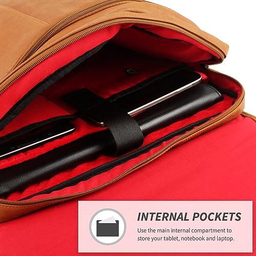 Shoulder Messenger Bag in Brown Leather - Fits Laptops up to 15.6