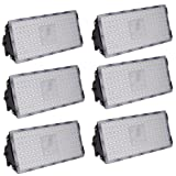 Viugreum 6 Pack 100W LED Flood Light, Waterproof IP65 Outdoor Led Lights, 9000LM Warm White 3000K Security Floodlights Landscape Wall Lights for Garage, Garden, Yard, Fast Shipping from USA (Color: 6 Pack, Tamaño: 100W,Warm White)